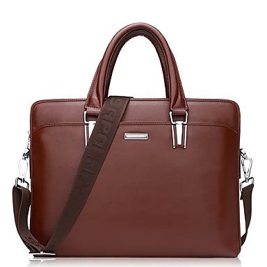 Men's Bags Cowhide Tote for Casual Formal Office & Career All Seasons Black Brown