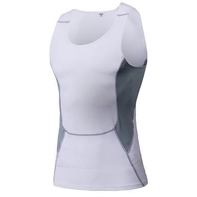 Men's Running Tank Running Baselayer Sleeveless Fitness, Running & Yoga Quick Dry Compression Clothing Tank for Running/Jogging Yoga