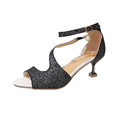 Zapatos de tacón medio de PU con lentejuela zEienUHg