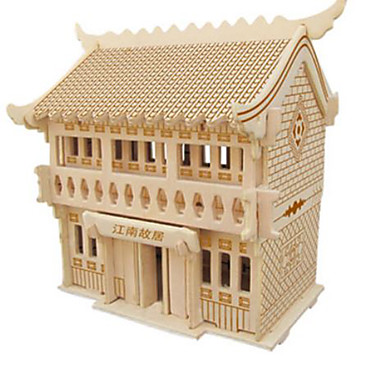3D Puzzle Jigsaw Puzzle Model Building Kit Famous buildings DIY Natural Wood Classic Kid's Unisex Gift
