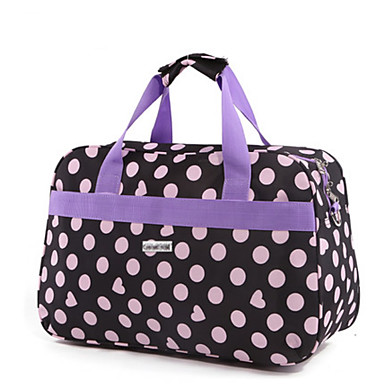Women Bags All Seasons Cotton Travel Bag for Casual Outdoor Red Purple Clover khaki