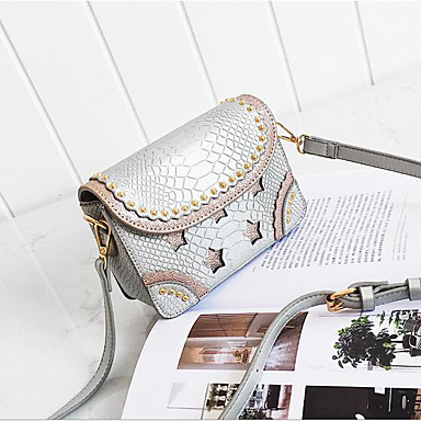 Women Bags All Seasons PU Shoulder Bag for Casual Outdoor Blue White