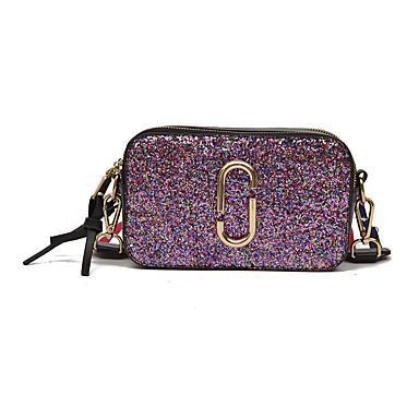 Women's Bags PU Crossbody Bag for Casual All Seasons Silver Blushing Pink