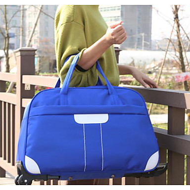 Women Travel Bag Oxford Cloth Polyester All Seasons Casual Outdoor Rectangle Zipper Blue Black Blushing Pink