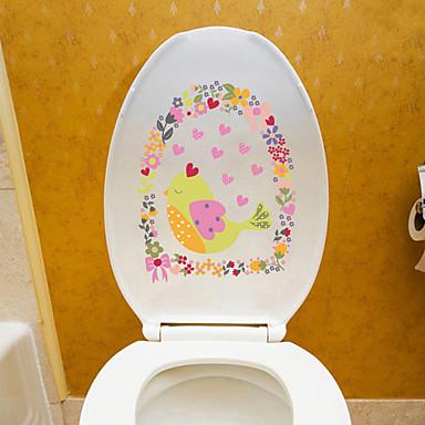 Decorative Wall Stickers Fridge Stickers Toilet Stickers - Plane Wall Stickers Shapes Floral / Botanical Cartoon Living Room Bedroom