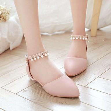 Automne Ballerines Nouveauté Synthétique Confort Marche Bout Beige Chaussures Femme Plat Eté 06008304 Strass pointu Polyuréthane Talon nUIW4xgwq0
