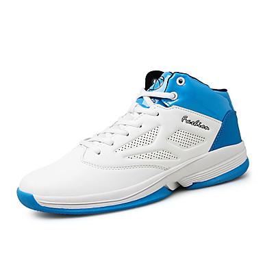 Homens sapatos Malha Respirável Couro Ecológico Primavera Verão Solados com Luzes Conforto Tênis Basquete Cadarço para Atlético Casual Ao