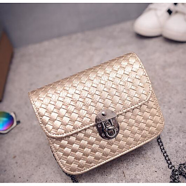 Women's Bags PU Tote for Casual Outdoor All Seasons Gold Black Silver