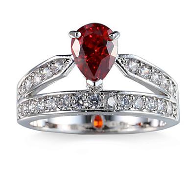 Women's Ring Settings Ring Band Rings Cubic Zirconia Personalized Luxury Circular Geometric Unique Design Classic Rhinestone Basic