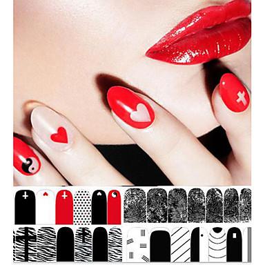 1 Neglekunst klistremerke Annen Sminke Kosmetikk Neglekunst Design