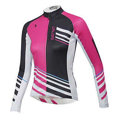 ILPALADINO Women s Long Sleeve Cycling Jersey Character Plus Size Bike Top  Waterproof Breathable Quick Dry Sports 279f5cc5a