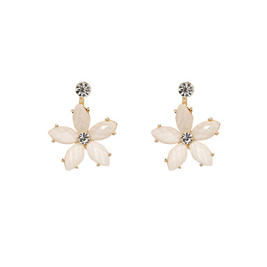 Women's Floral Stud Earrings - Personalized Floral Flower Style Flowers Euramerican Cute Style Fashion Simple Style off-white Depression
