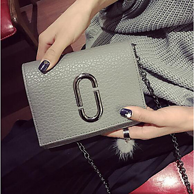 Women Bags PU Crossbody Bag for Casual Outdoor All Seasons Black Gray
