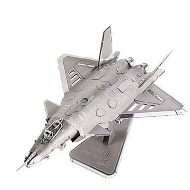 Quebra-Cabeças 3D Quebra-Cabeça Quebra-Cabeças de Metal Brinquedos de Montar Aeronave Construções Famosas Arquitetura 3D Faça Você Mesmo