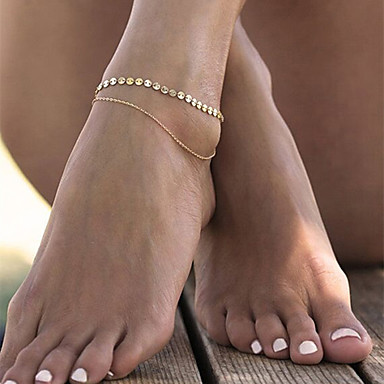 Geometric Anklet - Leaf Fashion Gold For Casual / Leisure Sports / Women's