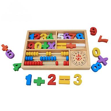 voordelige Rekenspeelgoed-Bouwblokken Rekenspeelgoed Educatief speelgoed Vierkant Milieuvriendelijk Klassiek Kinderen Speeltjes Geschenk