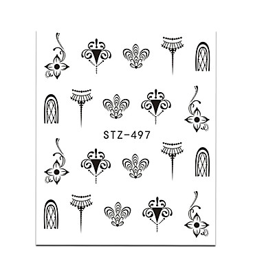 20pcs set hot fashion nail art water transfer decals gorgeous jewelry necklace lovely cat beautiful flower butterfly design diy decoration stz497 500