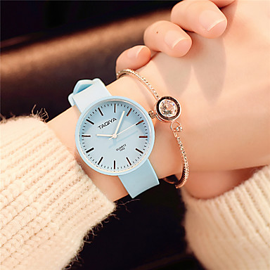 Women's Wrist Watch Quartz Silicone Black / White / Green Casual Watch Analog Ladies Candy color Casual Fashion Elegant - Pink Light Blue Light Green One ...