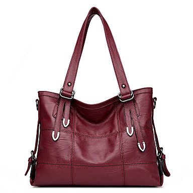 Women's Bags PU Shoulder Bag for Casual Red / Gray / Purple