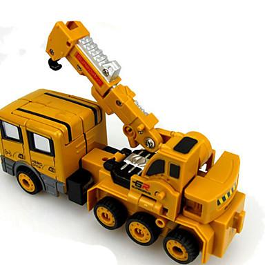 Robotti Leluautot Lelut Moottoripyörä Rakennusajoneuvo Lelut muuntuva Suorakulma Ompelukone Robotti Metalliseos Rauta Pieces Unisex