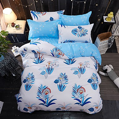 Duvet Cover Sets Animal 4 Piece Poly/Cotton Reactive Print Poly/Cotton (If Twin size, only 1 Sham or Pillowcase)