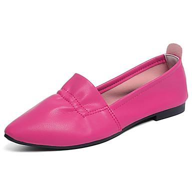Mulheres Sapatos Borracha Verão Conforto Sandálias Caminhada Sem Salto Dedo Apontado Cinzento / Fúcsia / Vermelho