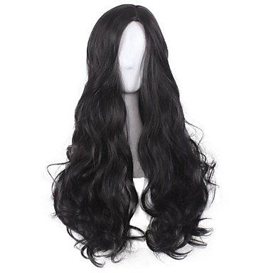 Synthetic Hair Wigs Curly Capless Cosplay Wig Long Black