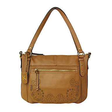 Women Bags Cowhide Shoulder Bag for Casual All Seasons Earth Yellow