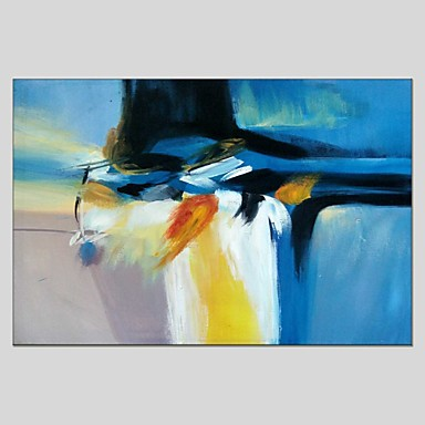 Maalattu Abstrakti Vaakatasoinen panoraama, Abstrakti Kangas Hang-Painted öljymaalaus Kodinsisustus 1 paneeli