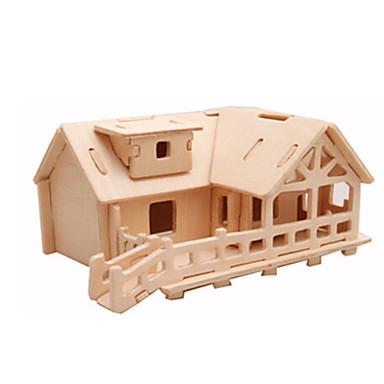 voordelige 3D-puzzels-3D-puzzels / Legpuzzel / Houten modellen Vliegtuig / Beroemd gebouw / Huis DHZ Puinen Klassiek Kinderen Unisex Geschenk