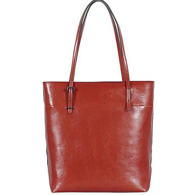 Women Shoulder Bag Cowhide All Seasons Casual Outdoor Round Zipper Black Brown Wine