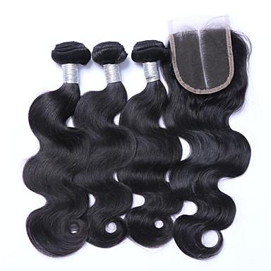 Brazil haj Hullámos haj Emberi haj sző 4 darab Az emberi haj sző