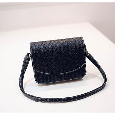 Women Shoulder Bag PU All Seasons Casual Outdoor Square Magnetic Black Silver Beige