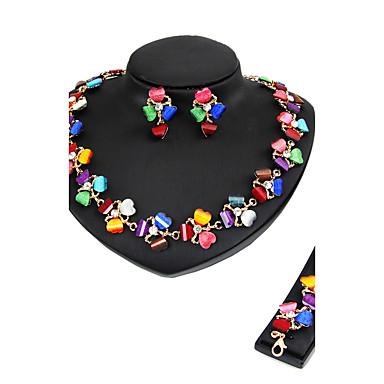 Women's Rhinestone Heart Jewelry Set - Classic Euramerican Fashion Heart Gold Jewelry Set Bridal Jewelry Sets Necklace / Bracelet For