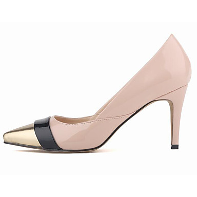 Women's Shoes Patent Leather PU Summer Comfort Basic Pump Heels For Casual Red/White Red/White Light Pink