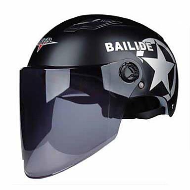BLD M12  Motorcycle Helmet Female Electric Car Half Helmet Summer Helmet Helmet Men And Women Light Anti-UV Helmet Brown Long Lens