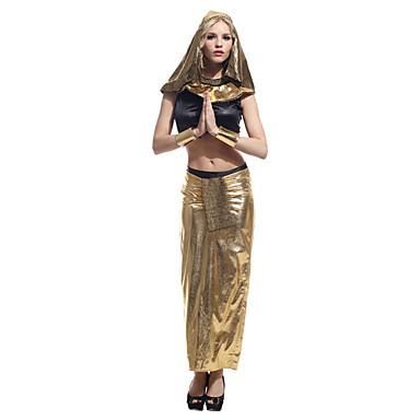 Queen Egyptian Costumes Cosplay Cleopatra Cosplay Costumes Halloween Props Masquerade Party Costume Female Unisex Halloween Carnival
