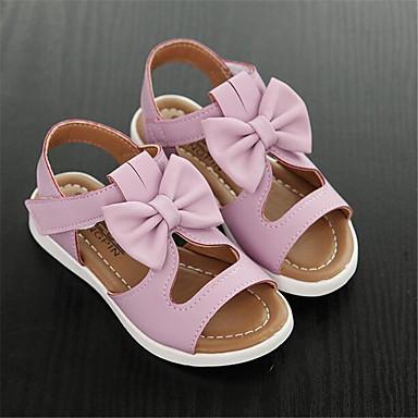 Women's Sandals Comfort Spring PU Casual White Purple Blushing Pink Flat
