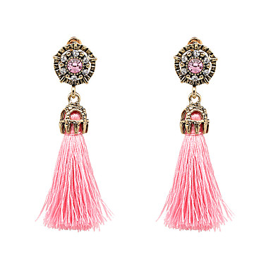 Women's Tassel Long Drop Earrings - Bohemian, Fashion, Boho Purple / Hot Pink / Light Blue For Party