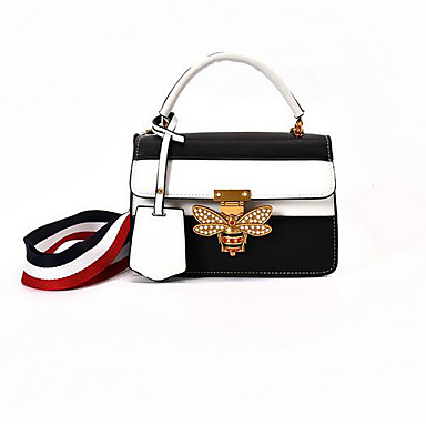 Women Shoulder Bag PU All Seasons Casual Outdoor Rectangle Magnetic