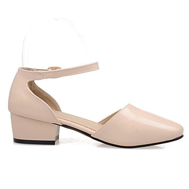 Women's Shoes Patent Leather Spring Summer Comfort Sandals For Casual Beige Red Blushing Pink