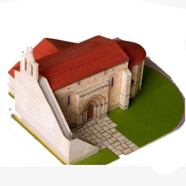 3D Puzzles Paper Craft Square Church 3D DIY Simulation Hard Card Paper All Ages
