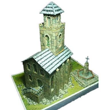 voordelige 3D-puzzels-3D-puzzels Bouwplaat Modelbouwsets Papierkunst Speeltjes Beroemd gebouw Kerk (83 Architectuur 3D DHZ Simulatie Unisex Stuks