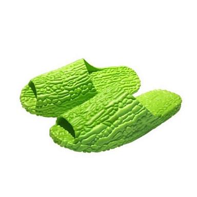 Dame Tøfler og flip-flops Komfort PVC Sommer Avslappet Komfort Grønn Flat