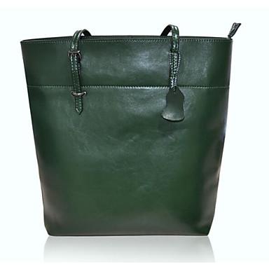 Women Shoulder Bag Cowhide All Seasons Casual Outdoor Shell Zipper Green Red Brown