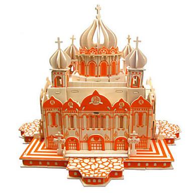 3D-puslespill Puslespill Puslespill i tre Modellsett Kirke Arkitektur Other GDS Naturlig Tre Klassisk Barne Unisex Gave