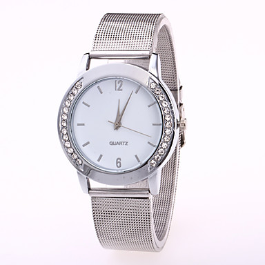 cheap Diamond Watches-Women's Luxury Watches Wrist Watch Diamond Watch Quartz Stainless Steel Silver Casual Watch Cool Analog Ladies Casual Fashion - Gold White / Silver One Year Battery Life / Jinli 377