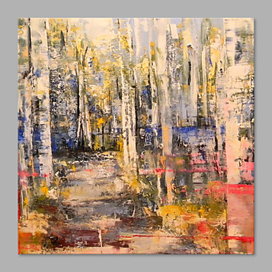 Maalattu Kukkakuvio/Kasvitiede Horizontal, Abstrakti Moderni/nykyaikainen Kangas Hang-Painted öljymaalaus Kodinsisustus 1 paneeli