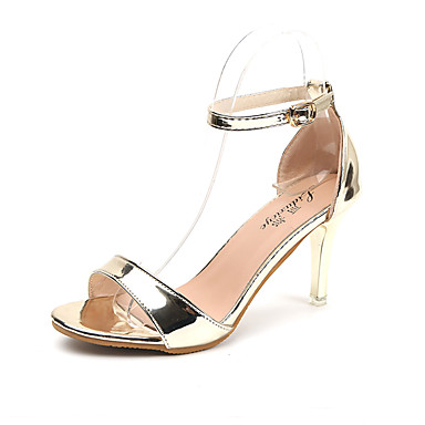 Women's Shoes Patent Leather PU Summer Basic Pump Light Soles Heels Walking Shoes Stiletto Heel Pointed Toe Sequin for Dress Party &