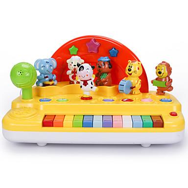 Acessório para Casa de Boneca Teclado Eletrônico Instrumento Musical de Brinquedo Brinquedos Amiga-do-Ambiente Diversão Plásticos Crianças